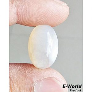 E-world White Aqeeq Agate Gemstone 15 Carat MA 354