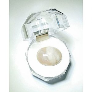 E-world White Aqeeq Agate Gemstone 20 Carat Sea Stone MA 393