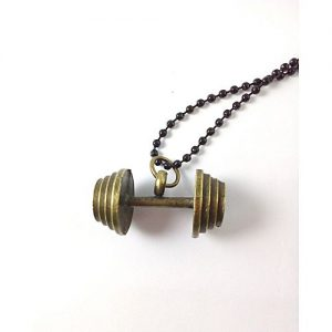 Entice Antique Dumbbell Pendant Necklace MA 419
