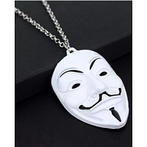 Entice White vendetta mask Necklace For Men MA 416