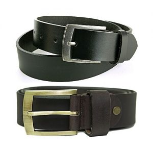 Fitoos Pack Of 2 - Leather Belts For Men MA 286