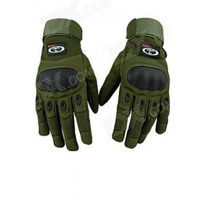 Flair Full Finger Military Gloves - Green MA 402