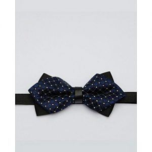 Glitz Executives Blue Pointed Adjustable Bowtie MA 683