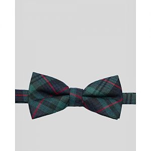 Glitz Executives Green And Black Gravata Adjustable Bowtie MA 681