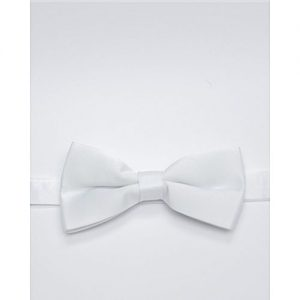 Glitz Executives White Adjustable Bowtie MA 700