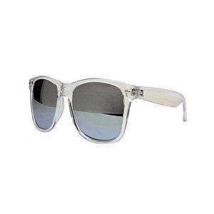 Hi Charlie Polarized Silver Lens Clear Frame Wayfarer Sunglasses MA 646