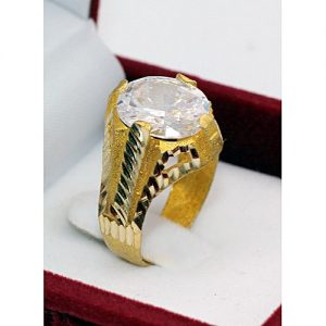 Jewelry Palace Gold Plated With White Zircon Ring MA 539