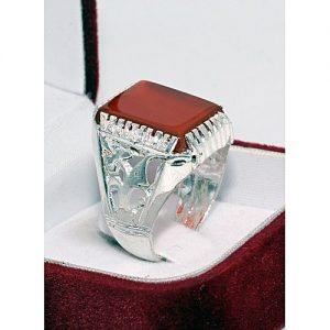 Jewelry Palace Silver Plated Ring With Agate (Aqeeq) Yamni MA 550