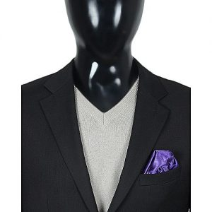 Koy Royal Purple Plain Solid Pocket Square MA 680