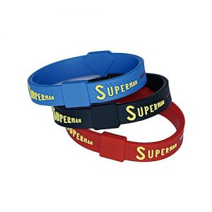 Kureshi Collections Pack of 3 Superman Bracelet For Boys MA 66