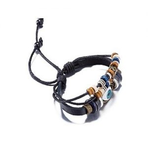 Leo Men's Leather Charm Bracelet MA 86