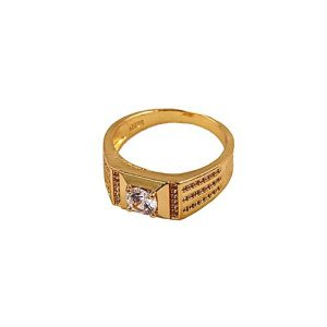Naya Rung Golden With White Stone Ring For Men MA 549