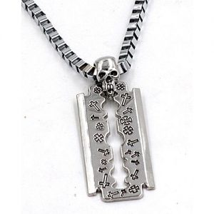 Naya Rung Skull With Blade Pendant Necklace MA 424