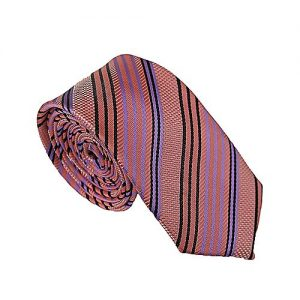 Shahzeb Saeed Black & Pink Silk Tie for Men MA 703