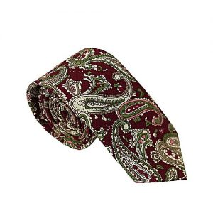 Shahzeb Saeed Brown Cotton Tie for Men MA 695