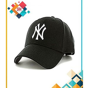 SIK Collection Black Cotton NY Baseball Caps Adjustable For Men MA 131