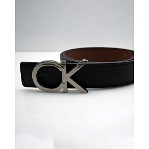 TapNCarry Black Leather Belt - Black - Casual Belt With Silver Buckle MA 154