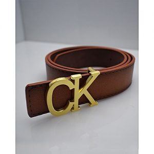 TapNCarry Brown Leather Belt - Casual Belt With Golden Buckle MA 178