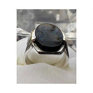 The Jewelry Place Oval Black Onyx Sterling Silver Ring-Silver MA 544