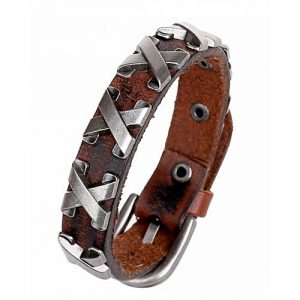 The Marshall Brown Punk Leather Cowboy Bracelet - TM-MB-14 MA 79