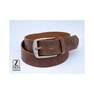 ZNFA Leather Genuine Leather Casual Belt - Brown MA 141