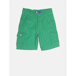 Aashi Boys Green Solid Cargo Shorts mw 336