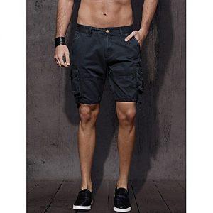 Aashi Men Navy Blue Solid Regular Fit Cargo Shorts mw 334
