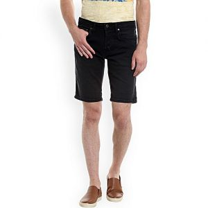 Daraz Fashion Black Denim Shorts For Men mw 448