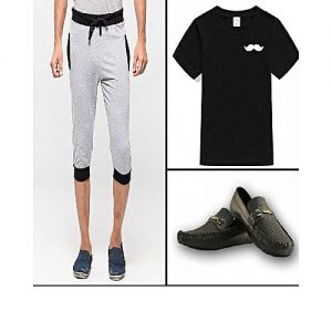 Daraz Fashion Combo Of 4 Deals 2 Shorts+Loafer+Tshirts For Men mw 433