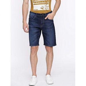Daraz Fashion Faded Blue Denim Shorts For Men mw 446