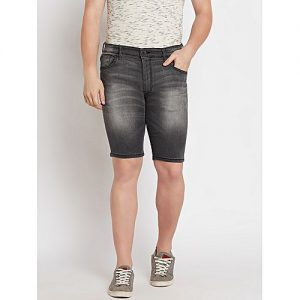Daraz Fashion Faded Grey Denim Shorts For Men mw 449