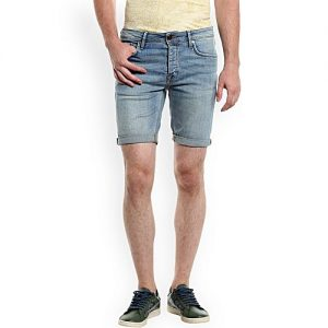Daraz Fashion Light Blue Denim Shorts For Men mw 445