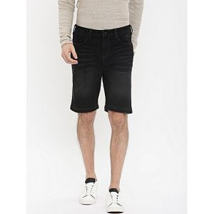Daraz Fashion Medium Black Denim Shorts For Men mw 447
