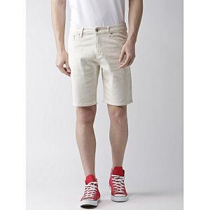 Daraz Fashion Off- White Denim Shorts For Men mw 443