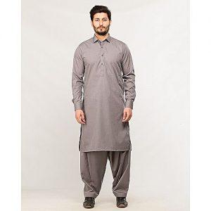 Shahzeb Saeed Men's Wear Grey Shalwar Kameez for Male SS 36