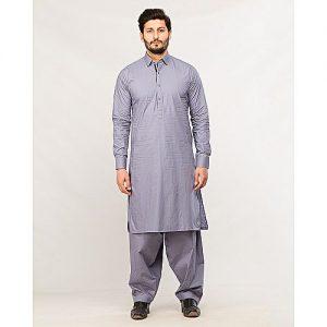 Shahzeb Saeed Men's Wear Grey Shalwar Kameez for Male SS 43