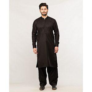 Shahzeb Saeed Menswear Black Shalwar Kameez for Male SS 40