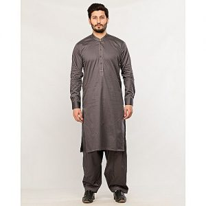 Shahzeb Saeed Menswear Grey Shalwar Kameez for Male SS 38