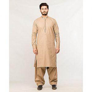 Shahzeb Saeed Menswear Khaaki Shalwar Kameez for Male SS 47