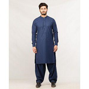 Shahzeb Saeed Menswear Navy Blue Shalwar Kameez for Male SS 46