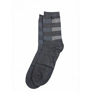 AT Fashions Dark Grey Cotton Socks for Men MW 259