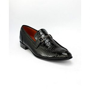 Corio Custom Made Shoes Black Men's Loafer Style Shoes