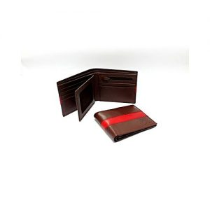 Corio Custom Made Shoes Brown Cow leather Wallet For Men 02