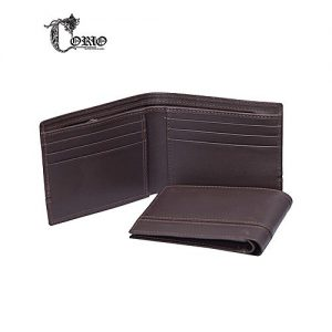 Corio Custom Made Shoes Brown Cow leather Wallet For Men