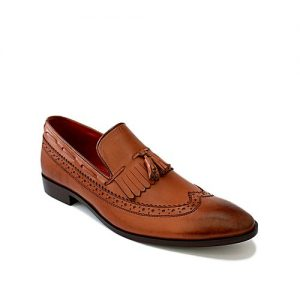 Corio Custom Made Shoes Brown Leather Classic Slip-on for Men - JC-89