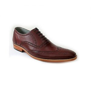 Corio Custom Made Shoes Burgendy Brown Men Classic Oxford Style Shoe