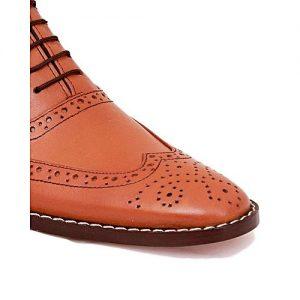 Corio Custom Made Shoes C-101363-Mustard- Brown Full Brogue Shoe
