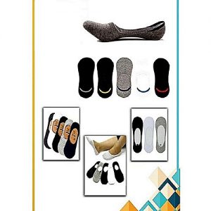 Deals Online Pack Of 6 - Loafer Multicolored Imported Cotton Low Cut Liners Socks For Men MW 258