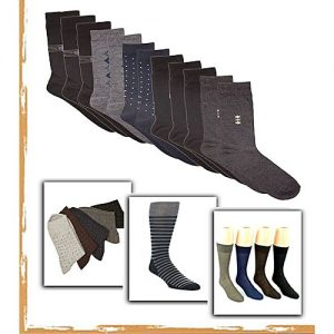 SIK Collection Pack of 12 Multicolored Dress Socks For Men MW 124
