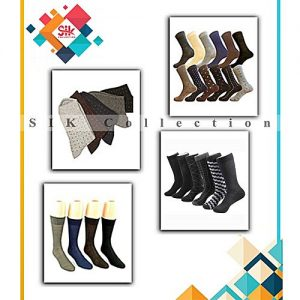SIK Collection Pack of 9 - Multicolored Cotton Dress Socks For Men MW 253